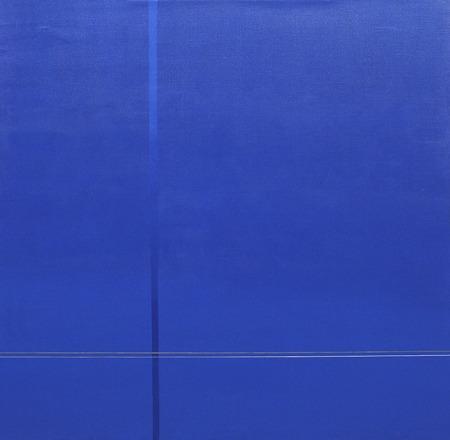 Bleu- C -42 - acrílico sobre tela - 100 x 100 cm - 2005