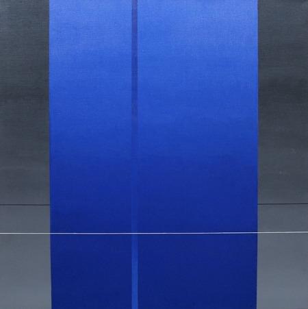 Bleu C 43 - acrílico sobre tela - 100 x 100 cm - 2005