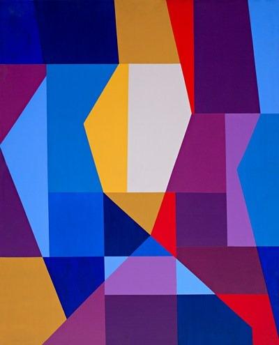Abstracción - acrílico s/tela - 81 x 100 cm - 2003
