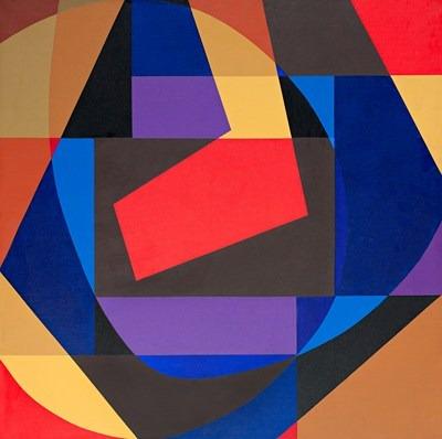 Abstractión - acrílico s/tela - 80 x 80 cm - 2003