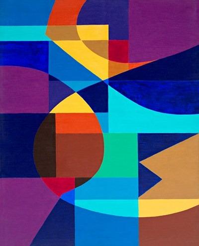 Azulao - acrílico s/tela - 81 x 100 cm - 1991