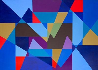 Composición - acrílico s/tela - 128 x 176 cm - 1999