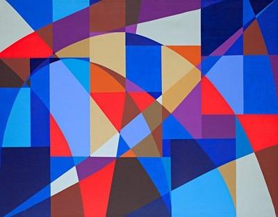 Composición - acrílico s/tela - 165 x 129 cm - 1999