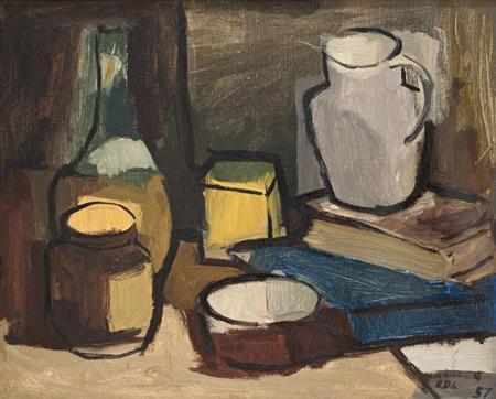 Naturaleza muerta - oleo - 54 x 44 cm - 1957