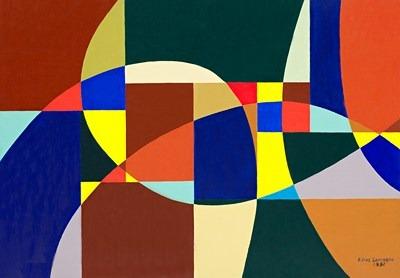 Rythmes - acrilico sobre tela - 116 x 81 cm - 1992