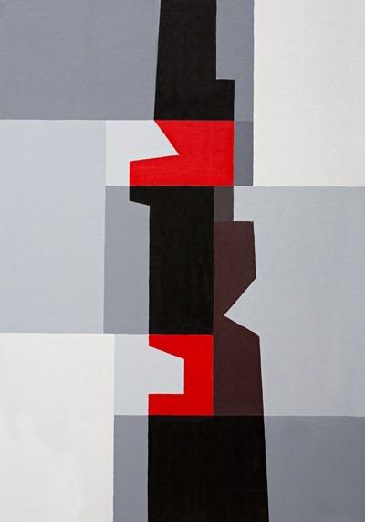 Totem - acrilico sobre tela - 70 x 100 cm - 1995