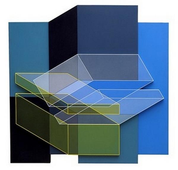 Herrera-Octavio-Relief-descriptif-jaune-bleu-acrílico-sobre-PVC-100cm-x-100cm-1999