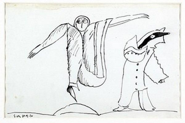 Silva Julio - Bufonada - tinta sobre papel - 67cm x 52cm - 1970