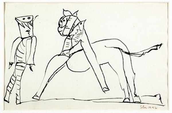 Silva Julio - Centauro - tinta sobre papel - 67cm x 52cm - 1970