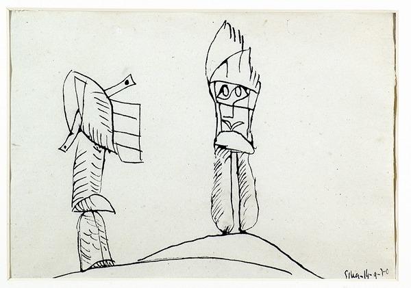Silva Julio - Porque - tinta sobre papel - 67cm x 52cm - 1970