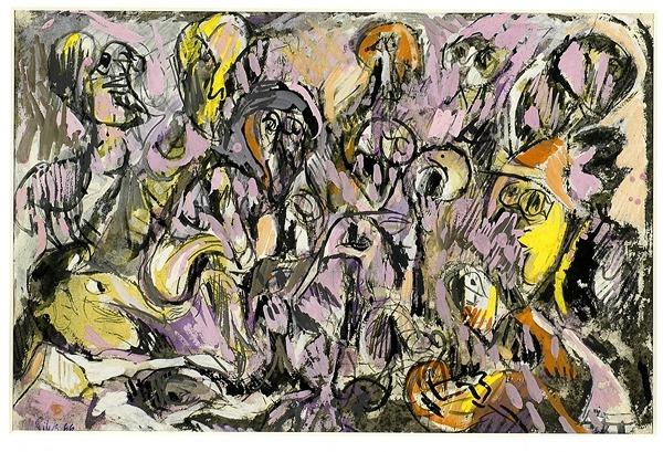 Silva Julio - Primavera precoz- tempera - 30cm x 46cm - 1966