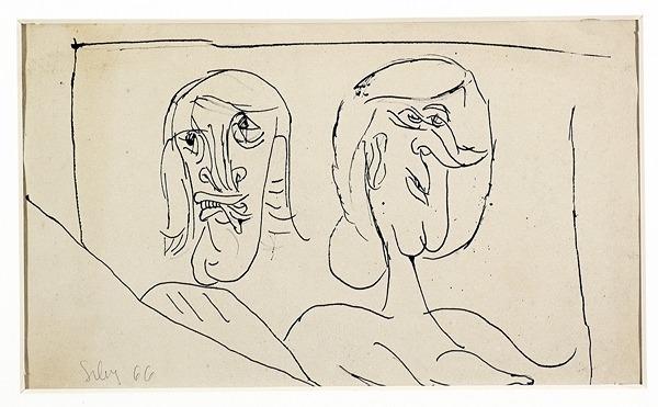 Silva Julio - Sans Rancume - tinta sobre papel - 67cm x 52cm - 1966