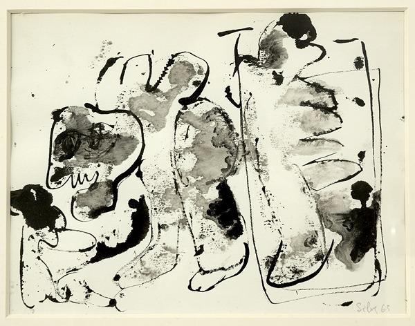 Silva Julio - T en faits pas mon petit - pluma de oca + levis + canson - 25cm x 32cm - 1963
