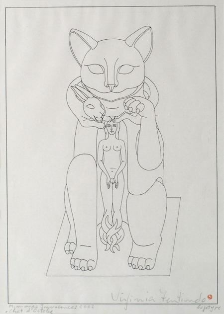 Chat d´octobre, Minimes Innacences, logotipo, 42 x-33 cm, 2002