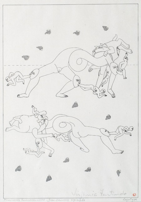 Dansenses spirale, Minimes Innacences, 42 x 33 cm