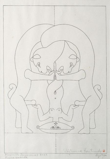 Ince queirbe, Minimes Innacences, logotipo, 42 x 33 cm, 2002