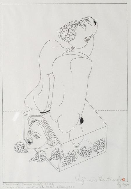 Singe d´une Nuit d´ete Becckus Diangsos, Minimes Inncences, logotipo, 42 x 33 cm, 2002
