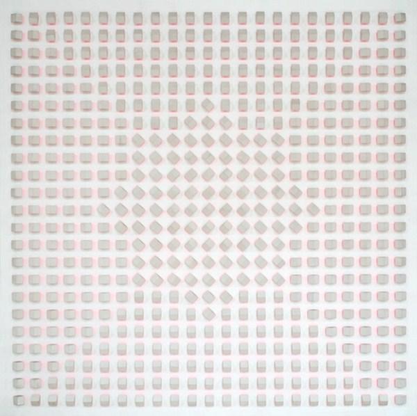 Atmosphere Chromoplastique, nº 217, relieve, 180 x 180 x 12 cm, 1969