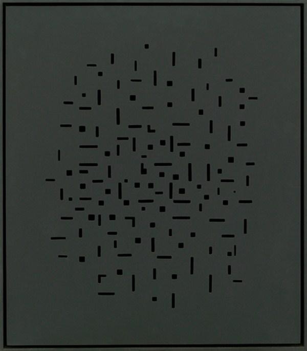 Atmosphere Chromoplastique nº 652, relieve, 50 x 57 x 4 cm, 1988