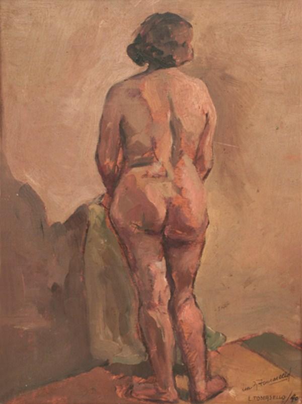 Desnudo, óleo s/ madera, 40 x 30 cm, 1940