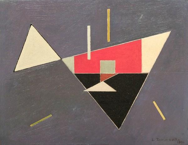 Figuras geométricas, óleo s/ tela, 35 x 45 cm, 1956