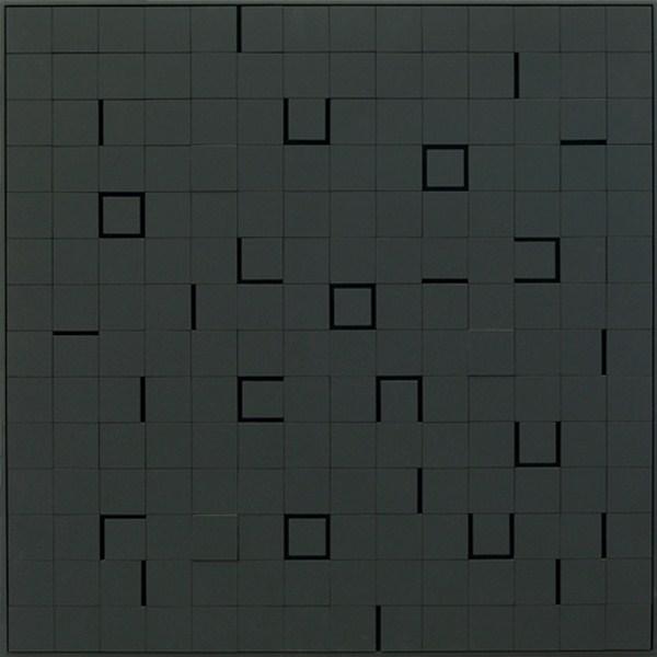 Lumiére noire nº 812, relieve, 71 x 71 x 6 cm, 1989