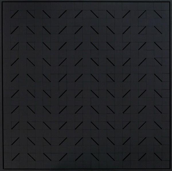 Lumiére noire nº 815, relieve, 108 x 108 x 7 cm, 2000