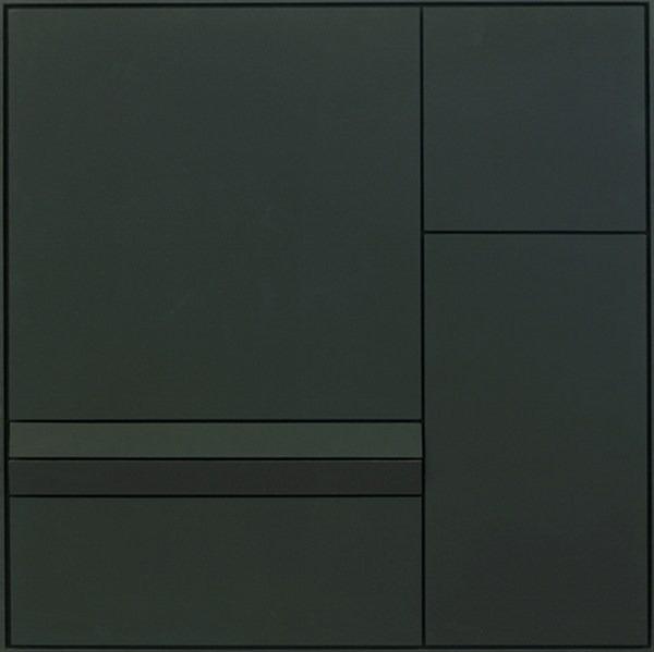 Lumiére noire nº 834, relieve, 86 x 86 x 4 cm, 2002