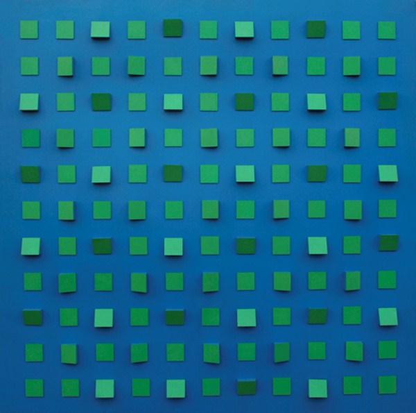 Objet plastique nº 354, relieve, 140 x 140 x 9 cm, 1974