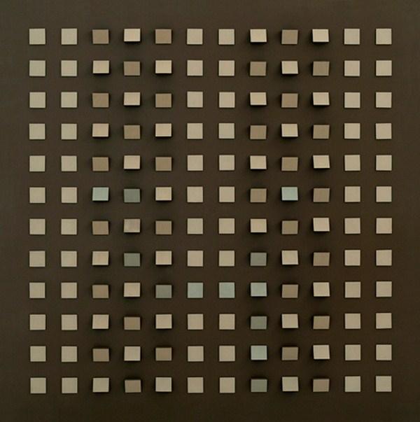 Objet plastique nº 355, relieve, 140 x 140 x9 cm, 1974