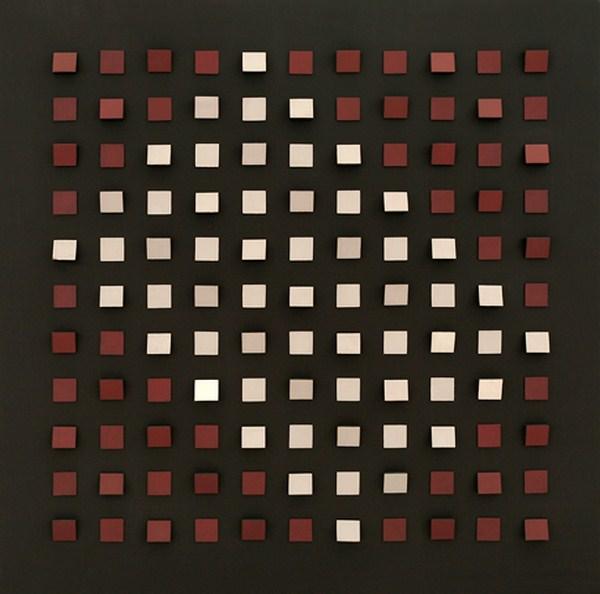 Objet plastique nº 356, relieve, 140 x 140 x 9 cm, 1974