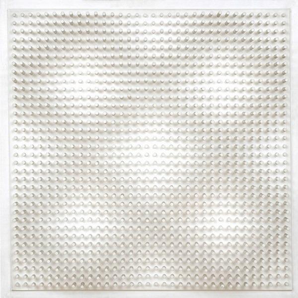 Objet plastique nº 410, relieve, 94 x 94 x 10 cm, 1976