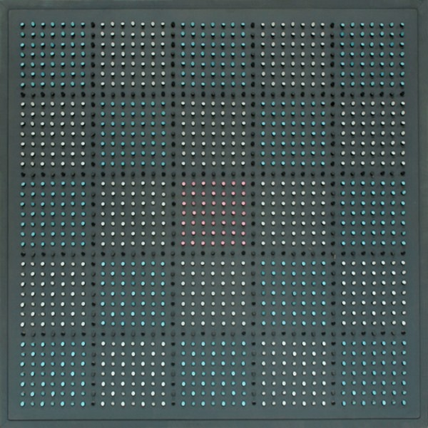 Objet plastique nº 670, relieve, 131 x 131 x 8 cm, 1989
