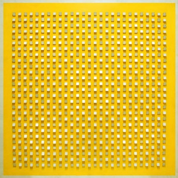 Objet plastique nº 687, relieve, 125 x 125 x 7 cm, 1990