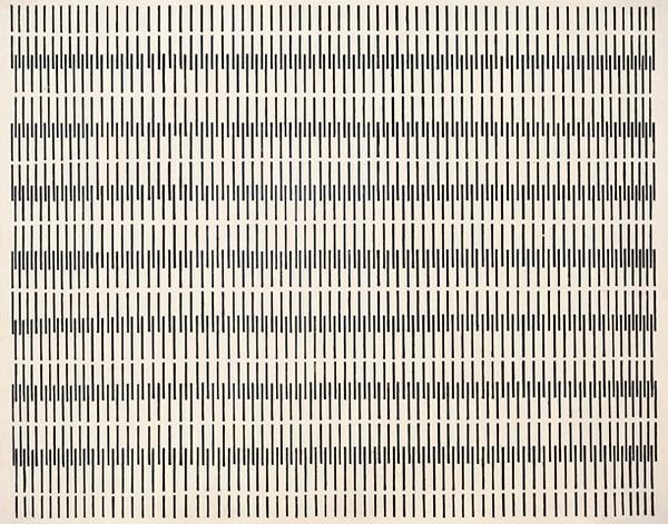 Peinture cinetique nº 3, esmalte s/ madera, 515 x 66 x 3 cm, 1957