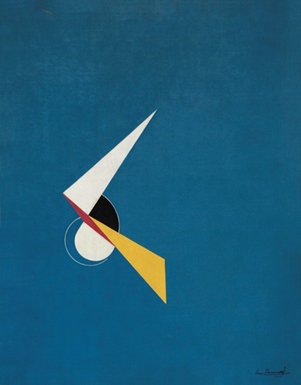 Pintura geométrica, acrílico s/ tela, 90 x 70 cm, 1952