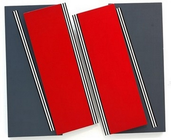 Ugarte-Rene-Estructura-con-rectangulo-rojo-diptico-acrílico-sobre-madera-185cm-x-145cm-1999
